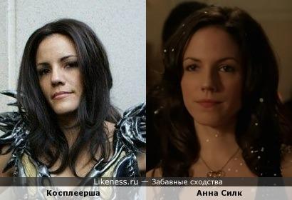 Девушка-косплеер похожа на Анну Силк