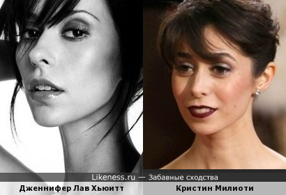 Дженнифер Ла Хьюитт и Кристин Милиоти
