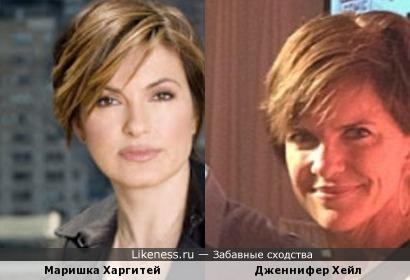 Маришка Харгитей и Дженнифер Хейл