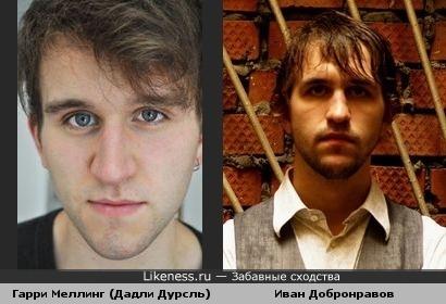 Гарри Меллинг похож на Ивана Добронравова