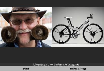 Усы и велосипед