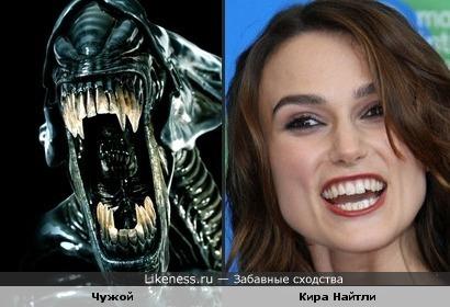 Я актрису очень люблю и считаю красавицей, но, блин, не могу от сравнения удержаться))))))