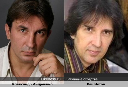 Александр Андриенко и Кай Метов похожи