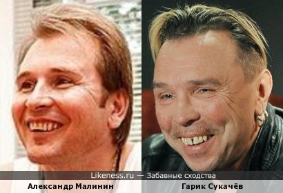 Александр Малинин похож на Гарика Сукачёва