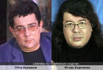 Пётр Кулешов похож на Игоря Корнелюка