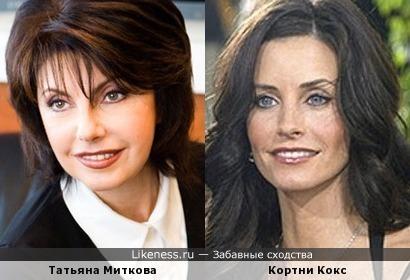 Татьяна Миткова похожа на Кортни Кокс