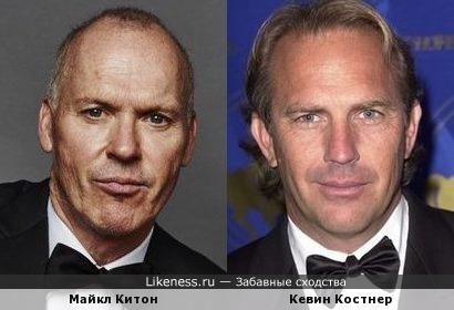 Майкл Китон похож на Кевина Костнера