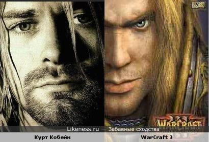 Курт Кобейн похож на обложку WarCraft 3