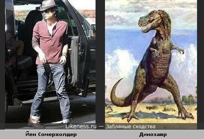 Йен Сомерхолдер (Деймон Сальваторе) похож на Динозавра