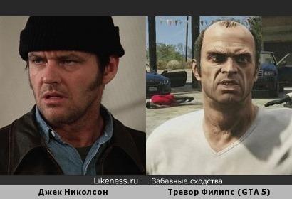 Тревор Филипс похож на Джека Николсона