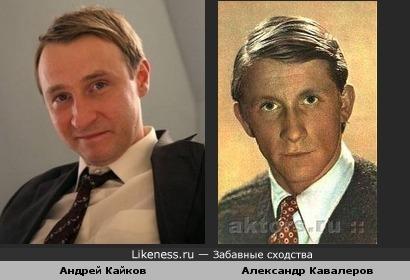 Андрей Кайков похож на Александра Кавалерова