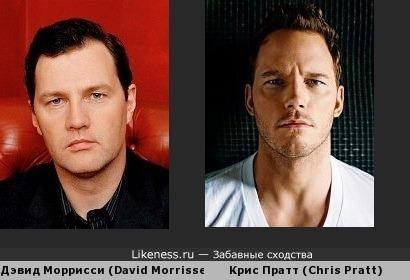 Дэвид Моррисси и Крис Пратт похожи. Еще и родились в один день - 21 июня...