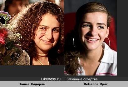 Нонна Хидирян похожа на героиню сериала Бесстыдники Дебору (Rebecca Ryan)