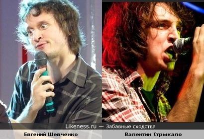 Евгений Шевченко (КВН - Ф. Двинятин) похожи с Валей Стрыкало (певец слов под гитару)