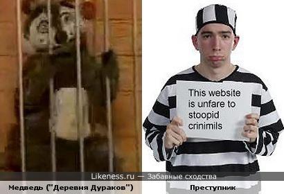 объясните мне на милость, а зачем медведя арестовали?