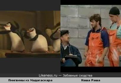 Пингвины из Мадагаскара и Наша Russia