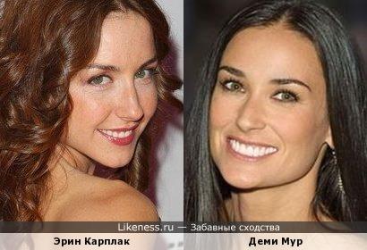 """Актриса сериала """"Быть Эрикой"""" Эрин Карплак и Деми Мур"""