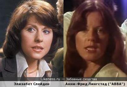 """При просмотре клипа """"Money, Money, Money"""", я обнаружила сходство с Анни-Фрид Лингстад и актрисой Элизабет Слейден в молодости"""