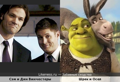 Сэм и Дин Винчестеры похожи на Шрека и Осла