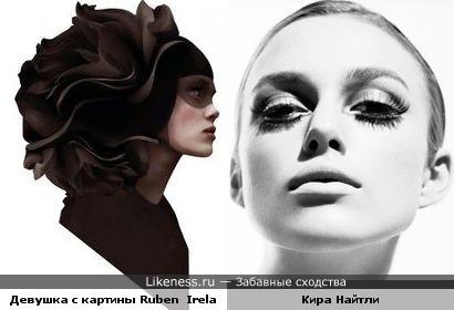Девушка с картины Ruben Ireland и Кира Найтли похожи