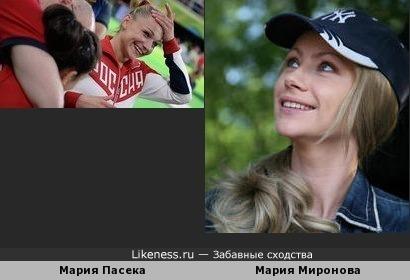 Гимнастка Мария Пасека похожа на актрису Марию Миронову