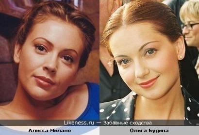 Ольга Будина сильно похожа на Алиссу Милано
