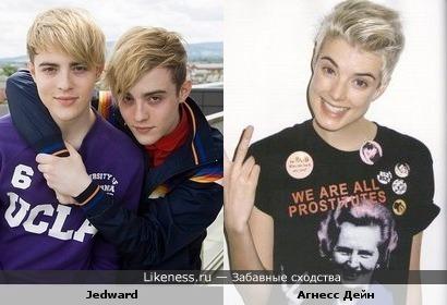 Британская топ-модель Агнесс Дейн без косметики напомнила мне мальчиков из ирландского дуэта Джедвард
