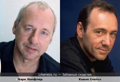 Фронт-мен Dire Straits с годами стал все больше походить на актера Кевина Спейси