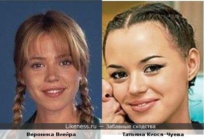 Татьяна Киося похожа на Веронику Виейру