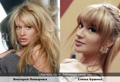 Елена Бушина похожа на Викторию Лопыреву