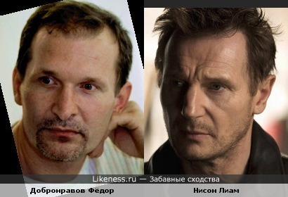 Добронравов похож на Лиама Нисона (Liam Neeson)