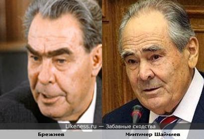 Брежнев похож на Минтимера Шаймиева