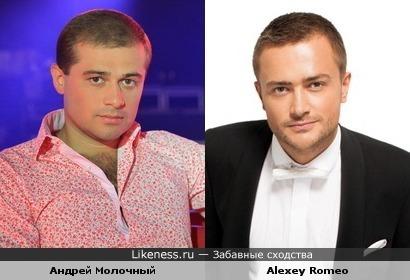 Андрей Молочный похож на DJ Alexey Romeo