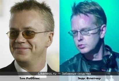 Тим Роббинс похож на Энди Флетчера (Депеш Мод)