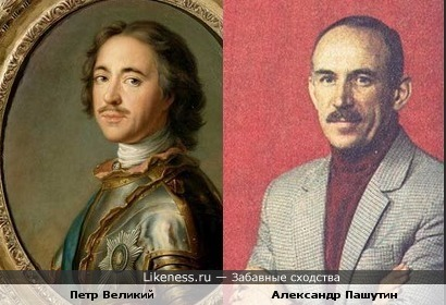 Александр Пашутин похож на Петра I