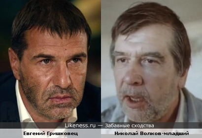 Евгений Гришковец похож на Николая Волкова младшего