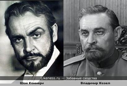 Владимир Козел в образе белогвардейского офицера похож на Шона Коннери