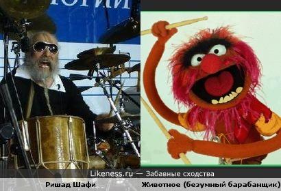 """Ударник из гр.""""Гунеш"""" так тоже похож на Безумного барабанщика"""