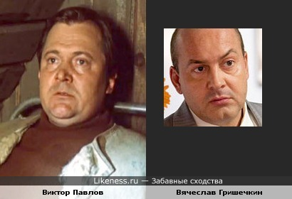 Вячеслав Гришечкин похож на Виктора Павлова