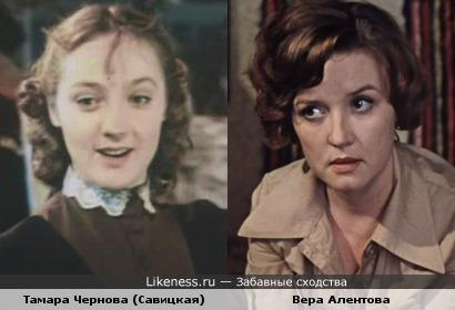 Тамара Чернова напомнила молодую Веру Алентову