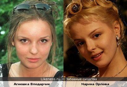 Марина Орлова и Агнешка Влодарчик