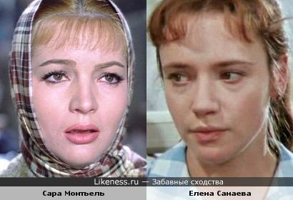 Сара Монтьель и Елена Санаева