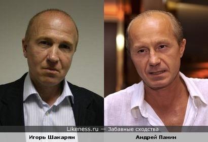 Игорь Шакарян и Андрей Панин показались похожими
