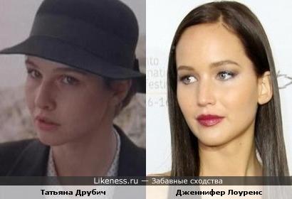 Татьяна Друбич и Дженнифер Лоуренс