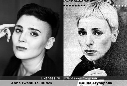 Польская актриса и Жанна Агузарова