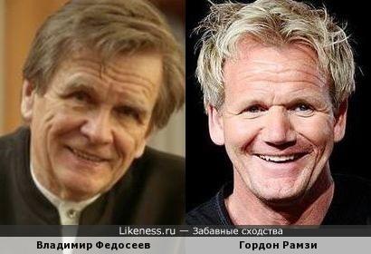 Владимир Федосеев и Гордон Рамзи