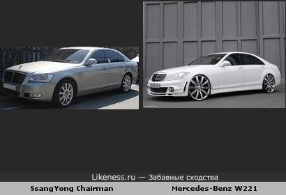SsangYong Chairman похожа на Mercedes-Benz W221