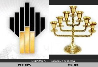 Логотип Роснефти похож на ритуальный предмет иудаизма