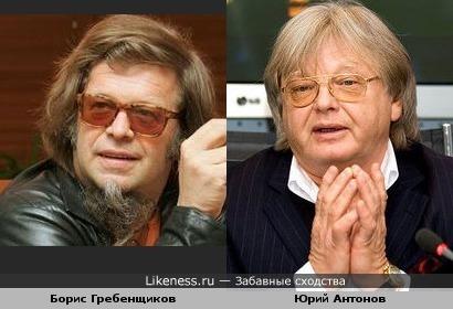 Борис Гребенщиков похож на Юрия Антонова