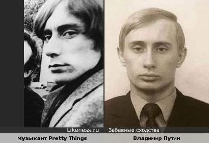 Музыкант рок-группы The Pretty Things похож на Владимира Путина